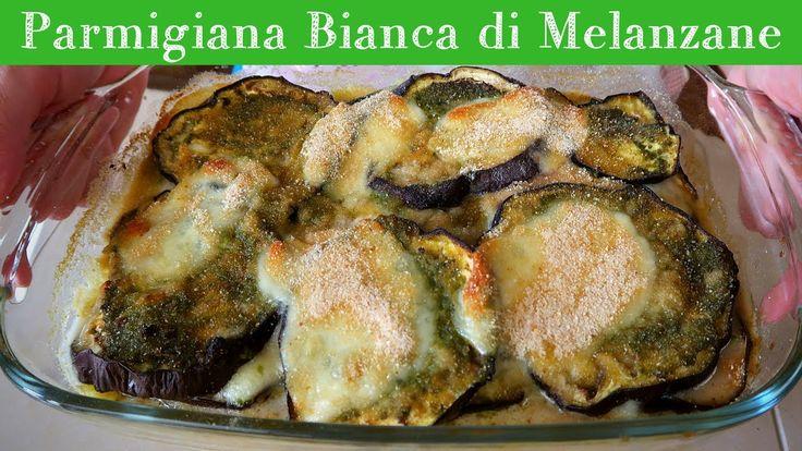 PARMIGIANA BIANCA DI MELANZANE Ricetta Facile - Baked Eggplant With Pest...