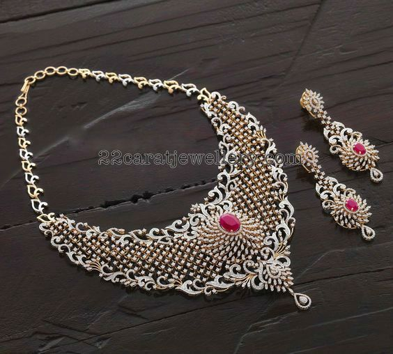 Exclusive Diamond Necklace Hangings - Jewellery Designs