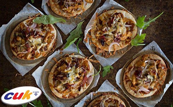 Receta de Pizza de pollo CUK con salsa barbacoa