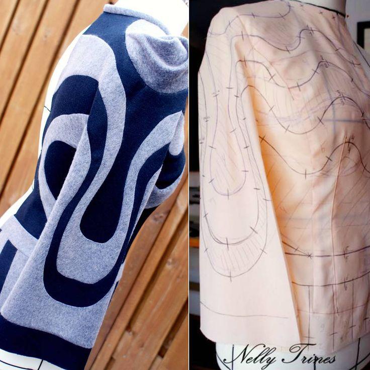 #sewingblogger #patternmaking #fabricmanipulation #jacket #jas #3dfashion #cutting #onlineclass #facebook #shingosato #japan #designer #diy #fabric #dubleface #шитьлюблю #naaien #fun #blue #fashiondesign #выкройка