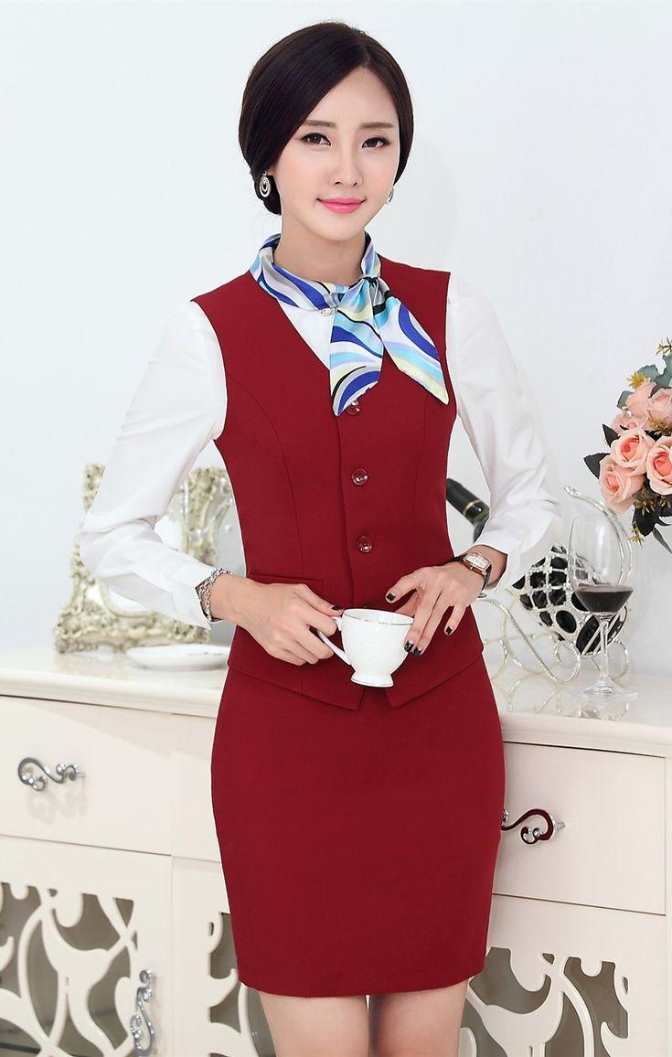 Fasormal mujeres trajes de negocios con falda y la parte for Trajes para oficina