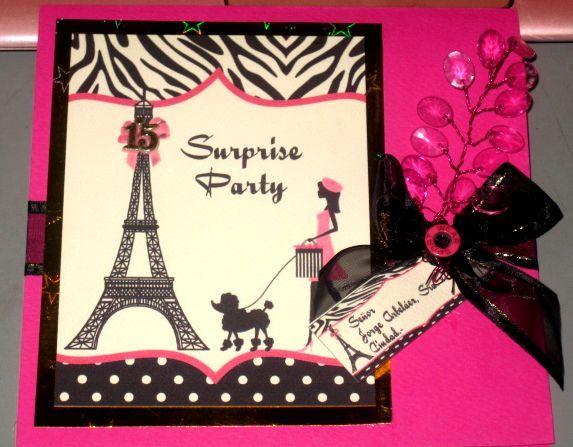 Invitación Quince años Paris