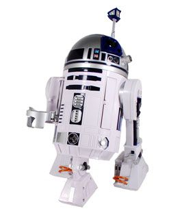 Star Wars Interactive R2D2 with Voice recognition and 40 preprogrammed responses... I think we need a new House Droid... $199.95 on Amazon.com