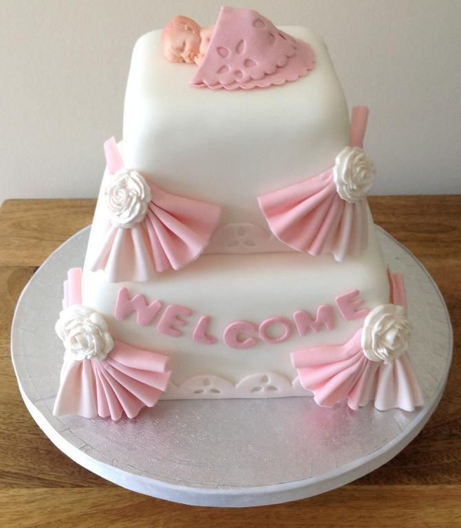 Baby Welcome Cake Images : Baby girl welcome cake - via @Craftsy NOT your Mothers ...