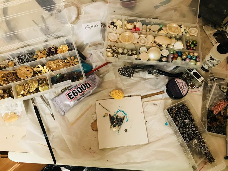 WTW 1/17/18- Learning mini assemblage with B'Sue via her YouTube channel this week!