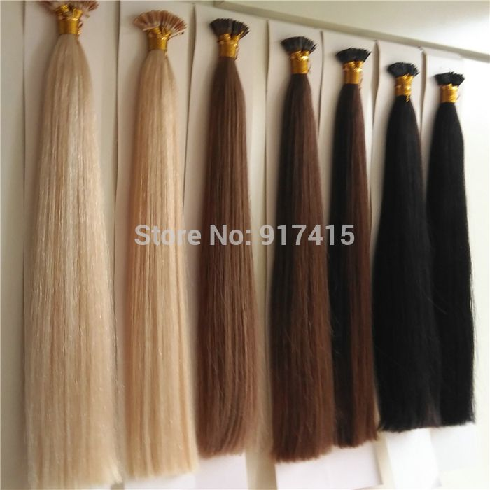 Find More Fusion Hair Extensions Information About 18inch 20inch 22inch 24inch Best Quality Cold Russian Double Drawn 100g Mirco Ring I Tip