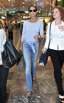 Isabel Preysler (2R) is seen on June 23, 2015 in Barcelona, Spain.