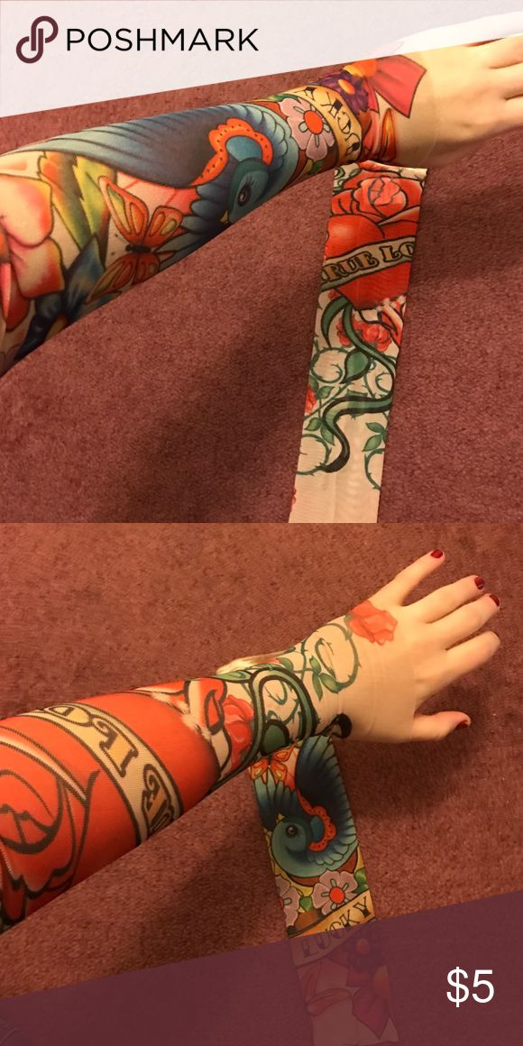 2 Fake Tattoo Sleeves Fun for little kids to dress up, or for an adult dress up party. Never actually used. Price is for both. Accessories