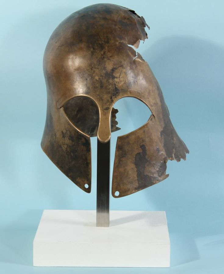 Buy online, view images and see past prices for Greek Bronze Corinthian Helmet. Invaluable is the world's largest marketplace for art, antiques, and collectibles.