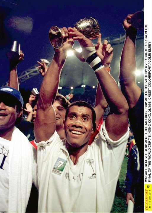 """Waisale Serevi - My uncle - Known as the """"King of Sevens"""" in rugby - Same village of Gau."""