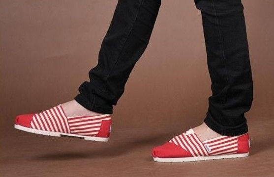 fresh and ready for your feet,TOMS shoes,god...SAVE 68% OFF! this is the best! | See more about red stripes, canvas shoes and tom shoes.