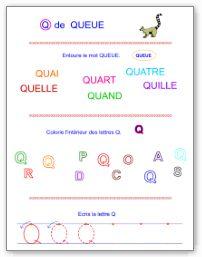 Lettre Q en majuscule d'imprimerie