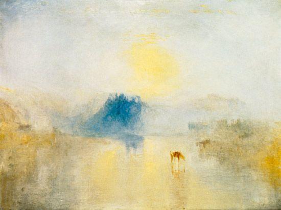Titre de l'image : William Turner - château de Norham avec un lever de soleil