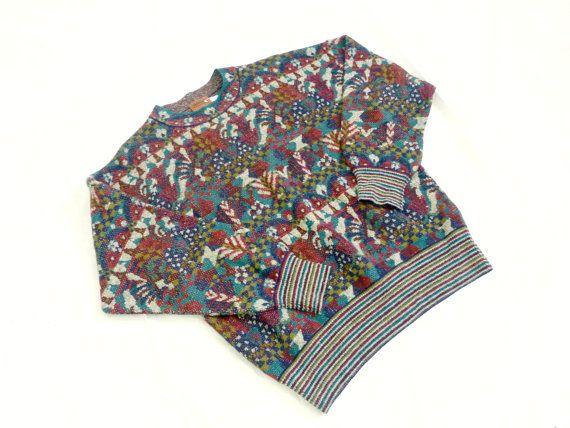 Maglione MISSONI Vintage maglione - Mens, Designer, anni 80, multicolore, Hipster, Italia