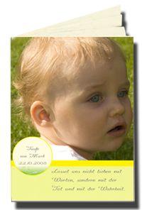 Taufhefte sind für die Taufe eine schöne Erinnerung an des Kindes erstes Sakrament http://www.schobuk.com/html/kirchenhefte-taufhefte.html