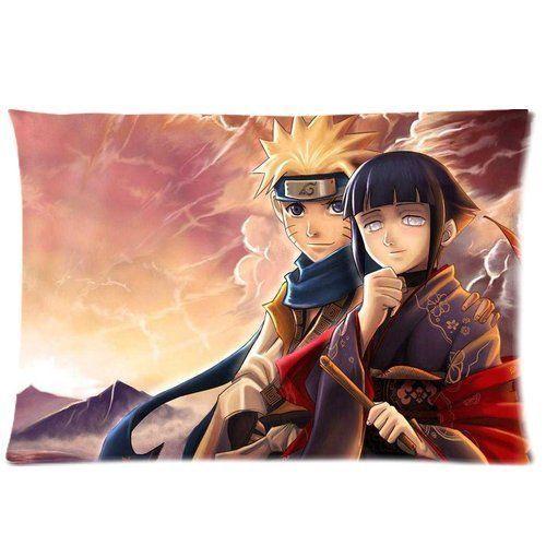 Custom Japanese Anime Cartoon Naruto and Hinata Rectangular Pillow Case 16×24 Inches Creative Personalized Pillowcase Bedding Pillow Slips