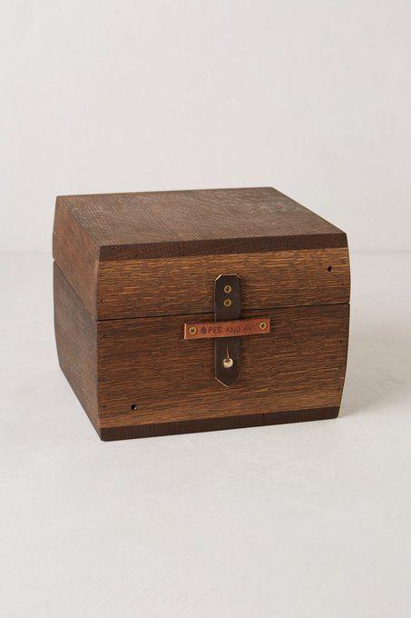 Oak Jewelry Box by Peg & Awl