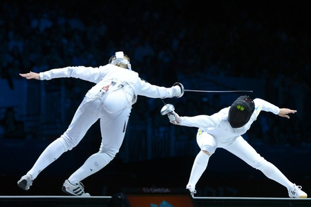 Yana Shemyakina of Ukraine took the gold medal in the women's fencing individual epee, over Germany's Britta Heidemann in the 2012 Olympics!