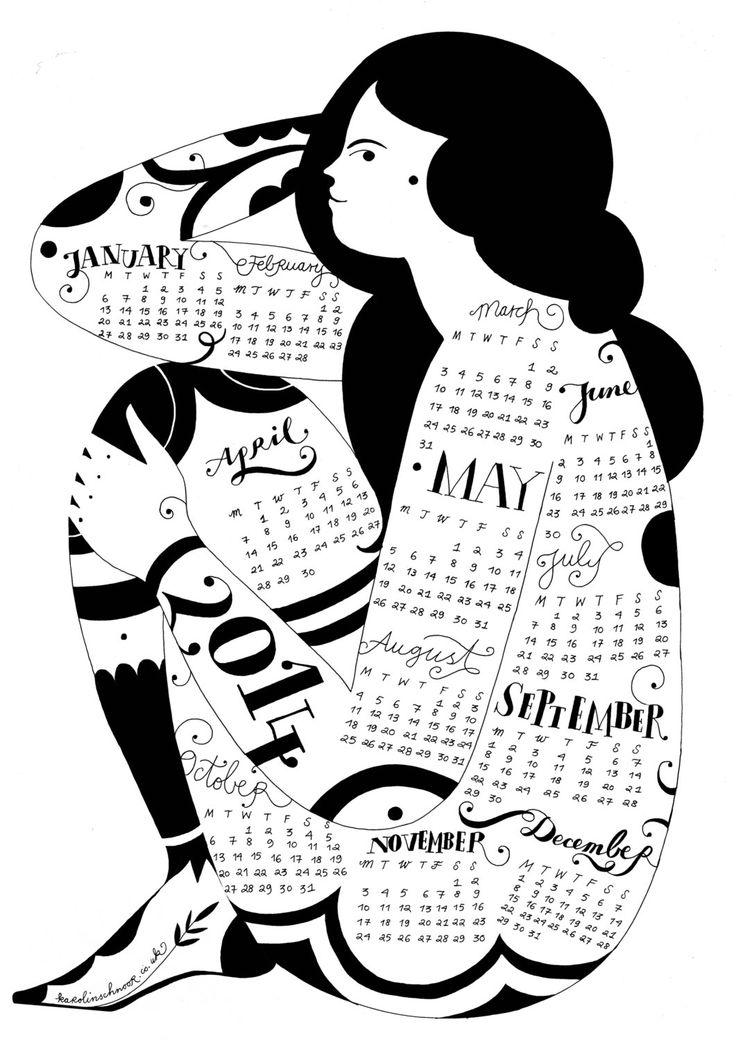 Wall Calendar 2014 by Karolin Schnoor