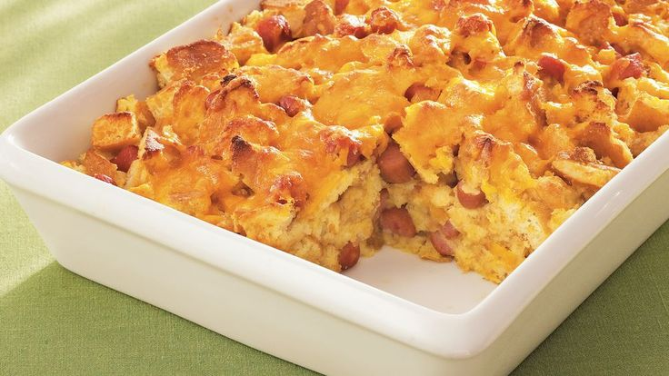 Dinner ready in over an hour! Serve this hearty casserole featuring Pillsbury® frozen buttermilk pancakes, sausage and cheese.