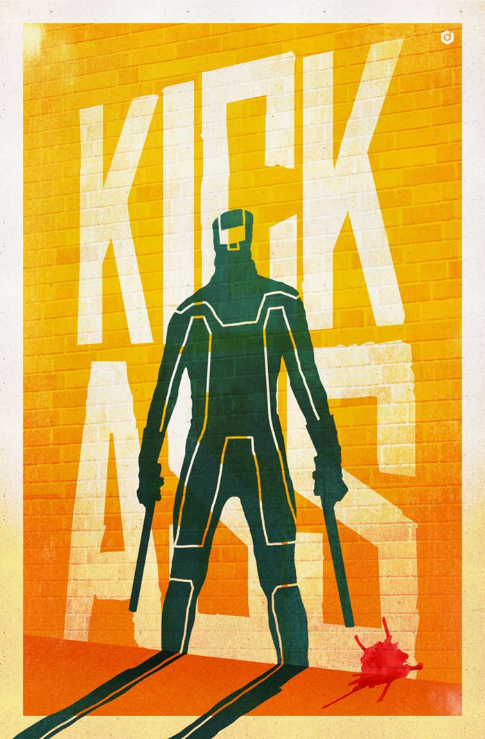 Alternative movie poster for Kick-Ass by Doaly