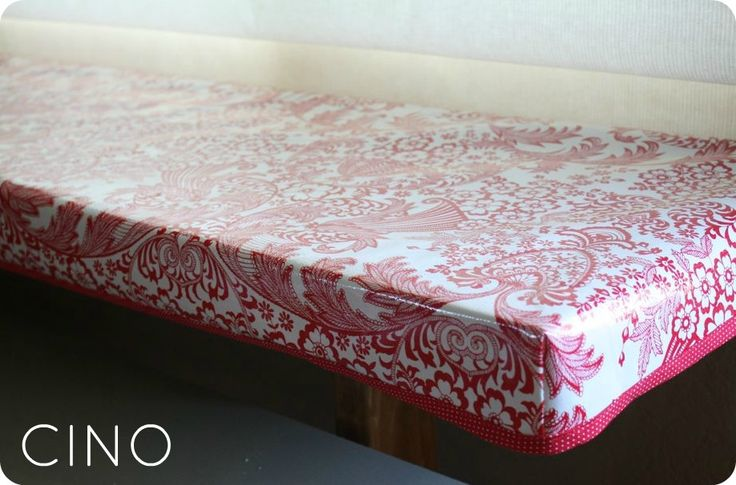 Fitted Oilcloth Tablecloth Tutorial Edged With Cute Bias