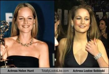 I so thought LeeLee Sobieski was Helen Hunt's daughter but turns out they're not even related!
