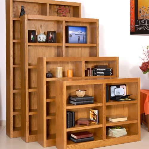 Concepts in Wood Double Wide Wood Veneer Bookcase - Red Oak - Bookcases at Hayneedle $252-$343