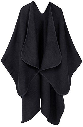 ANDORRA Women's Merino Wool Loose Open-Front Sweater Cardigan Poncho Cape,Black2  Special Offer: $31.88  255 Reviews Item Features: Incredibly soft feel and good breathability, comfortable for all-day wear.Beautiful cardigan wrap that looks classy and is eye catching.Allow your...