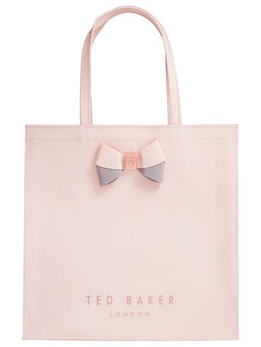Large icon by Ted Baker London. A duo-tone bow held by logo-etched hardware…