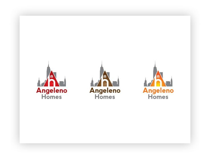 Logo for Real Estate Investment Company - Angeleno Homes by bizlogodesign