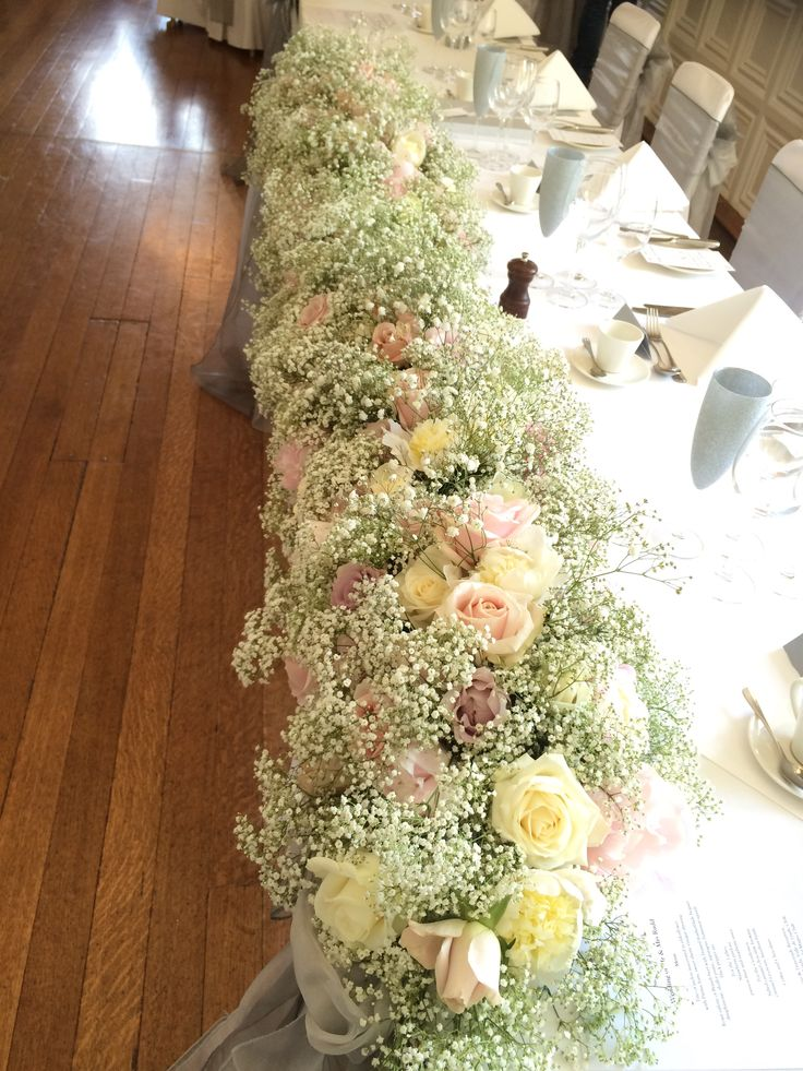 Soft Gypsophila & Roses