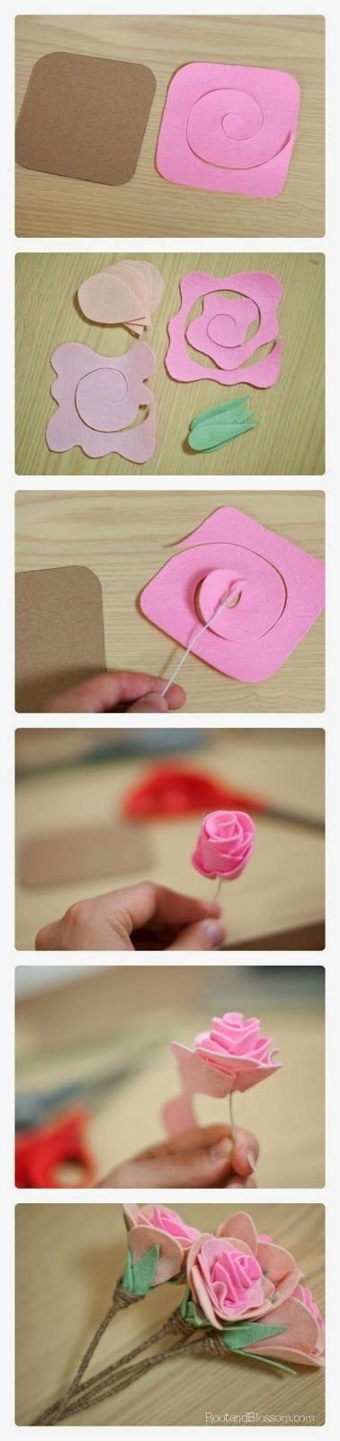 Everything about making flowers out of felt - patterns, templates and inspiration