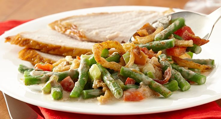 Cajun green bean cassarole