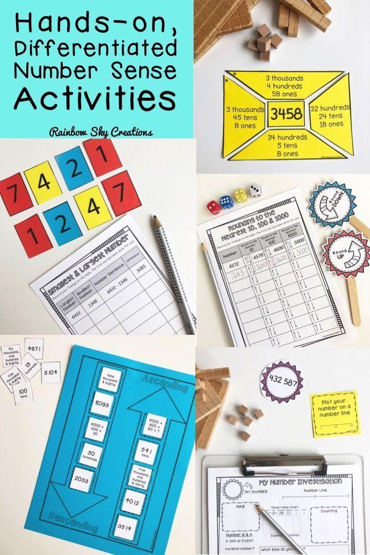 Hands-on Math Activities. Number sense Math Activities. All about Number pack for Grade 3 and Grade 4. Ideal activities for Math centers. Includes open-ended Math questions. Problem-solving Tasks. #mathcenters #aussieteachers #teacherspayteachers #tpt #number #numbersense #mathactivities #math