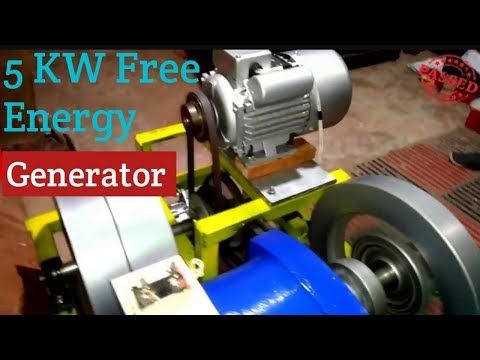 Flywheel Free Energy Generator /5KW /Without diesel engine