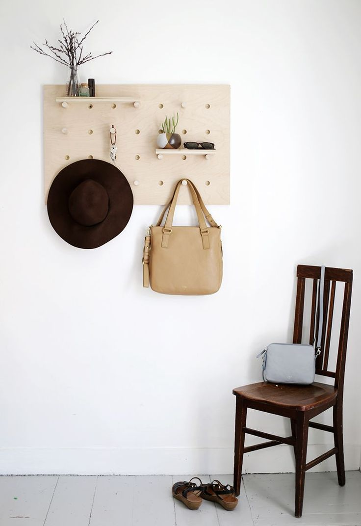 22 Summer-Perfect DIYs You Can Tackle This Weekend #refinery29  http://www.refinery29.com/summer-diy-projects#slide-15  Pegboard Wall Organizer By The MerrythoughtAfter long days of outdoor adventuring, use this handy pegboard as a vertical catchall for keys, purses, parasols, and picnic paraphernalia.