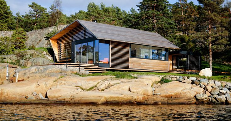 Lund+Slaatto Architects Have Designed A Cedar Clad Contemporary Waterfront Cabin In Norway | CONTEMPORIST