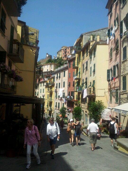 Riomaggiore in La Spezia, Liguria