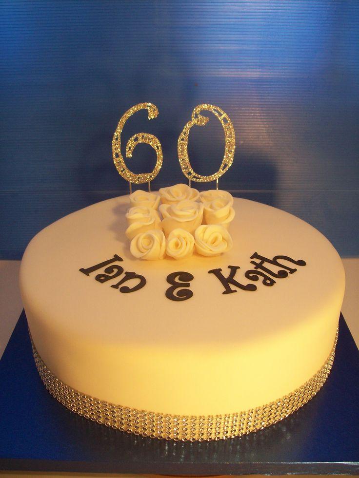60 th Wedding Anniversary Cake Auckland $275 Diamond Anniversary Cake Auckland