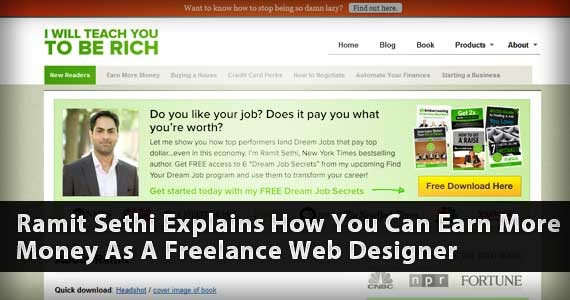 Ramit Sethi Explains How You Can Earn More Money As A Freelance Web Designer