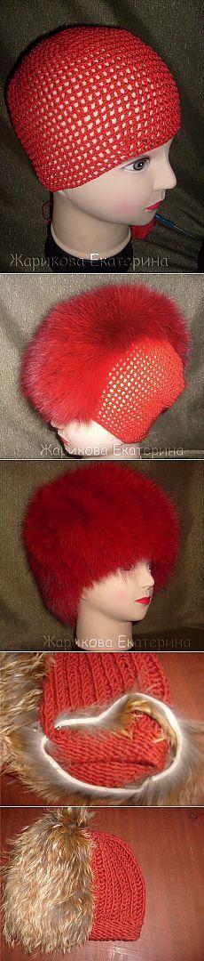 Как сделать шапочку из обрезков меха - Ярмарка Мастеров - ручная работа, handmade