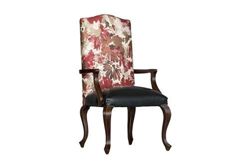 Reeded Fully Upholstered Carver Measurements 560 x 520 x 1200