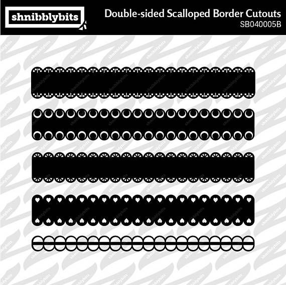 10 Double-sided Scalloped Border Cutouts