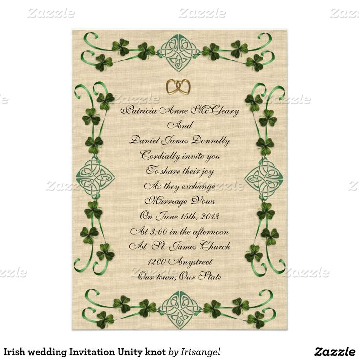 37 best Irish wedding invitations images on Pinterest | Bridal ...