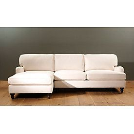 eton 2piece sectional with right arm apartment sofa and left arm chaise