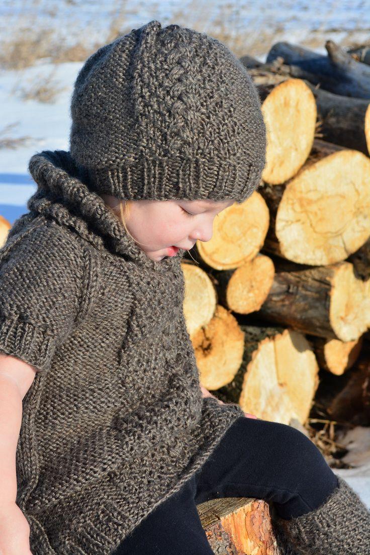 knit hat pattern / knit sweater pattern / por KnotEnufKnitting
