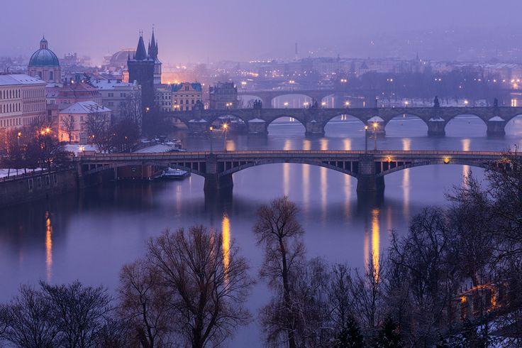 Prague Winter Twilight by Michal Vitásek on 500px