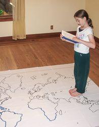 Mapas del mundo a gran tamaño para imprimir.