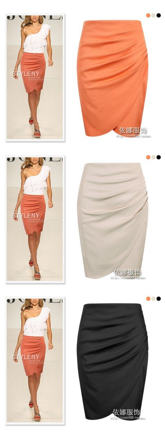 2013 /S XXL/ 3 Colors New Fashion Womens' Business Suit Pencil Skirt Summer/Autumn OL Skirts For Women Knee Length Free Shipping-in Skirts f...